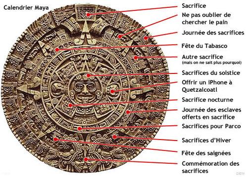 calendrier maya humour