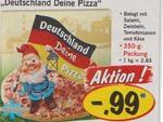 Pizzawerbung mit Deutschlandzwerg