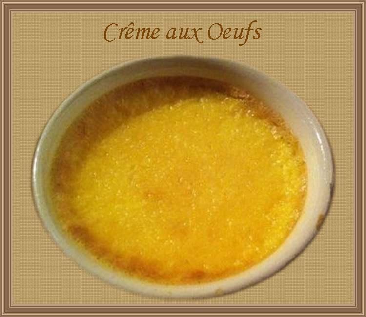 Recette de cuisine : Crème aux oeufs
