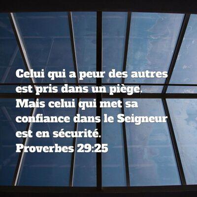 Proverbes 29 - Lecture et Prière