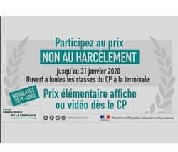 """Concours """"Non au harcèlement"""""""