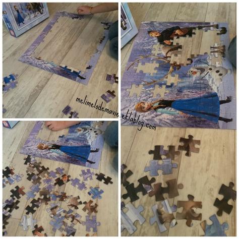 Des puzzles particuliers...100 pieces, reine des neiges