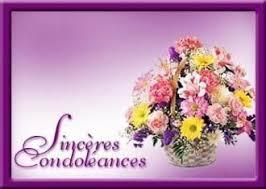 Sincères Condoléances - Panier de fleurs