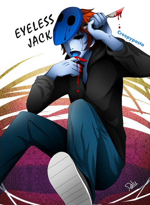 Image de eyeless jack and creepypasta