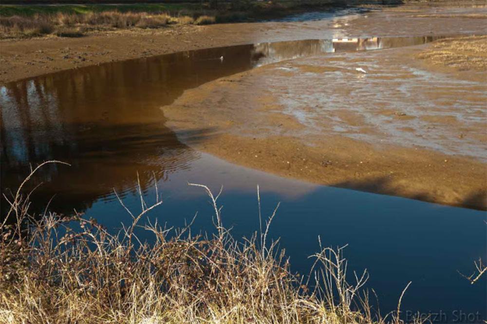 Nostang - vasière à marée basse