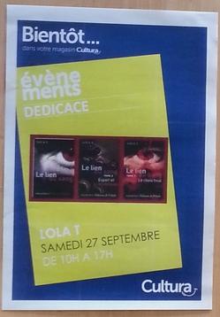Dédicaces Lola T. (Cultura Compiègne)