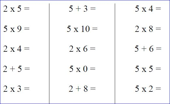Fiche ce1 table de multiplication