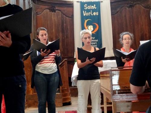 Une belle animation musicale à Saint Vorles...
