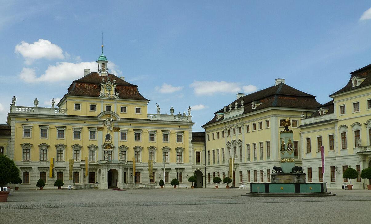 Cour du château de Ludwigsbourg