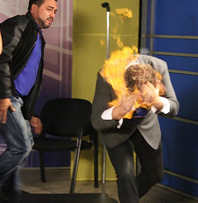 Wayne Houchin : le feu à la tête ! – vidéo-