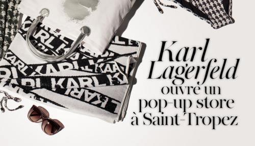 Karl Lagerfeld à Saint-Tropez