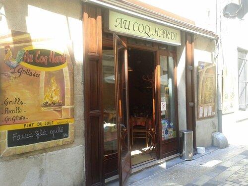 """cocorico est exposé au restaurant """"au coq hardi """"a NARBONNE"""