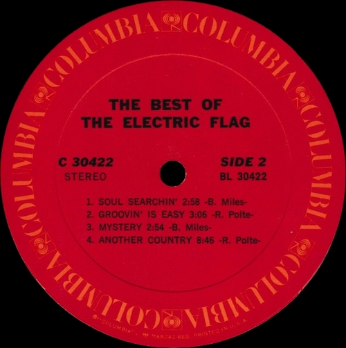 "The Electric Flag : Album "" The Best Of Electric Flag "" Columbia Records C 30422 [ US ]"