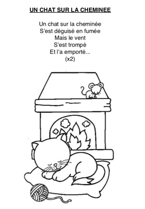 Paroles «un chat sur la cheminée»