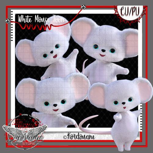 La petite souris blanche en peluche gratuite (free)