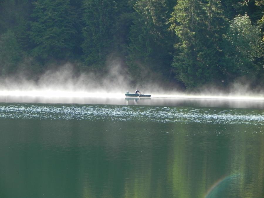 Le lac Genin , un matin ,dans l'Ain