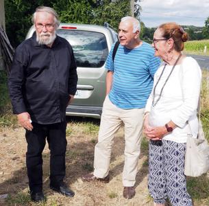 Claude Esnault, Jean Lancri, Monique Lancri (11 août 2018)