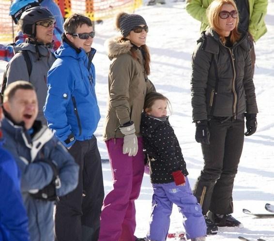 Mary et Frederik au ski