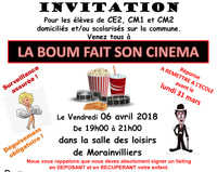 LA BOUM FAIT SON CINEMA LE 6 AVRIL 2018 !