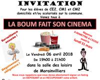 LA BOUM FAIT SON CINEMA LE 6 AVRIL 2018 !