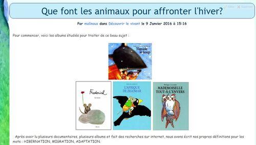 """Recueil de poèmes """"Les animaux et l'arrivée du froid"""""""