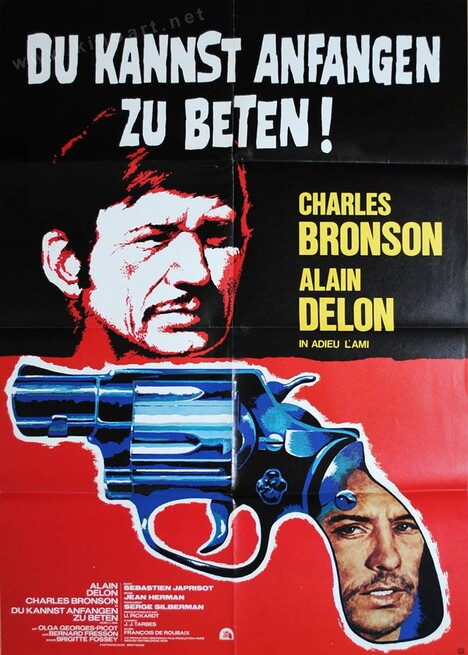 ADIEU L'AMI - CHARLES BRONSON AFFICHE ALLEMAGNE
