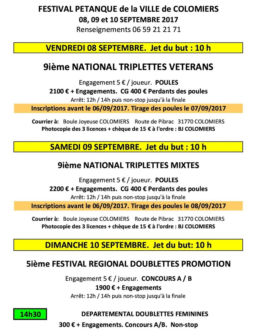 Festival de Pétanque de Colomiers