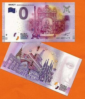 Nancy : un billet de 0 euro ...