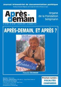 Merci à Fatima Besnaci Lancou de m'avoir fait connaître la Fondation Seligmann et aussi cette grande résistante  Françoise Séligmann