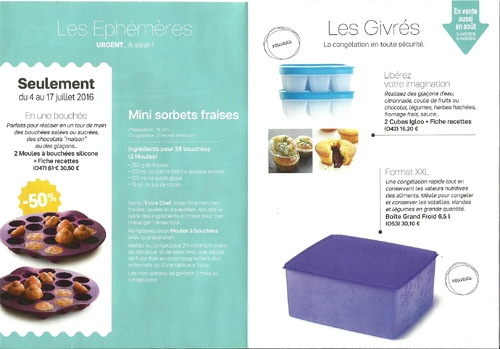 Promotion Tupperware juillet 2016