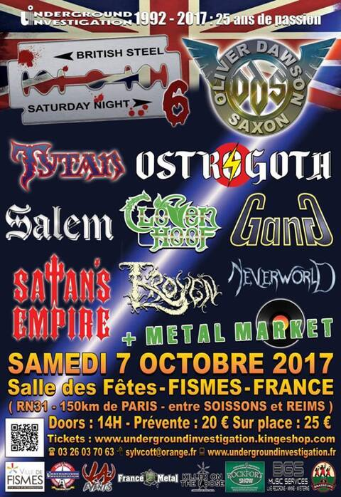 BRITISH STEEL SATURDAY NIGHT 6 - Fismes - 07/10/2017