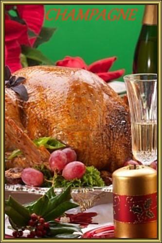 8192420-garnie-de-turquie-grill-e-sur-no-l-d-cor-de-table-a