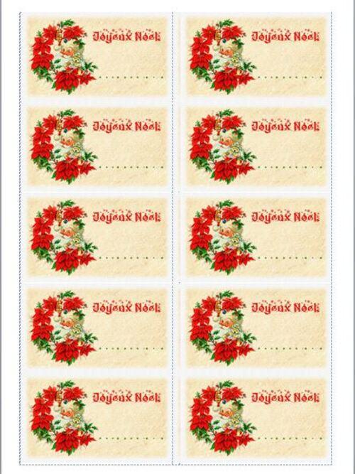 Favorit Etiquettes de Noël à Imprimer - Planche n°2 - Chez-Mireille D ND49