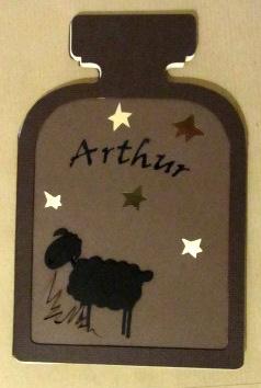 Carte naissance Arthur