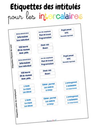 La planner de suivi de l'enseignante
