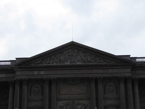 L'extérieur du Louvre
