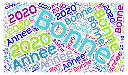 Fonds de carte de voeux 2020