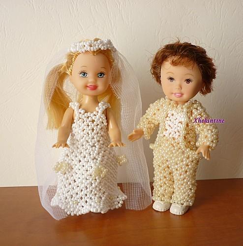 couple de maries habilles de perles 2
