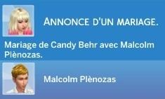 mariage Candy Behr et Malcolm Plènozas
