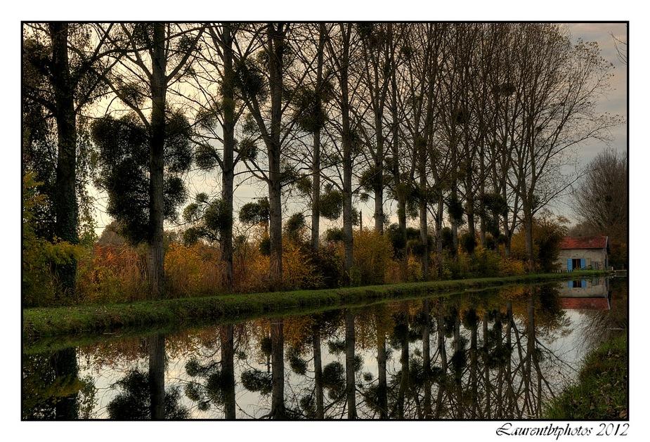 Canal du Berry a l'automne