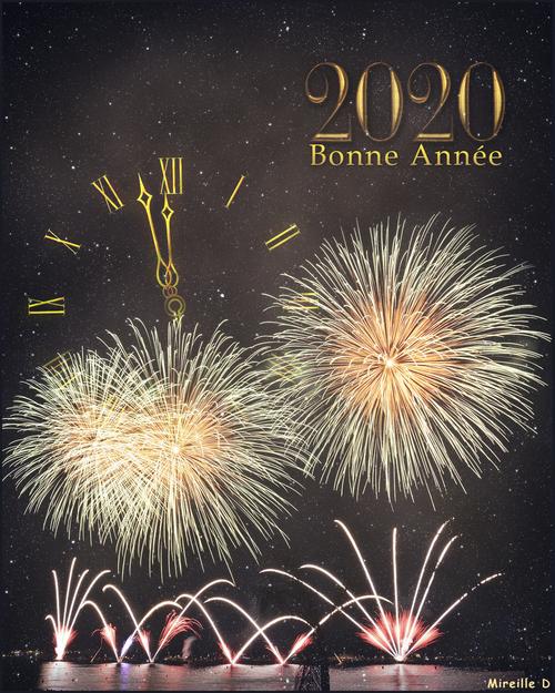 Bonne et Heureuse Année 2020 (Carte et Papier Outlook)