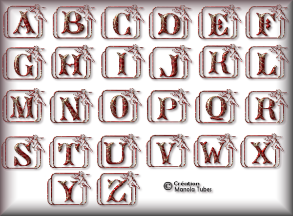 Tube alphabet de Noel 2992