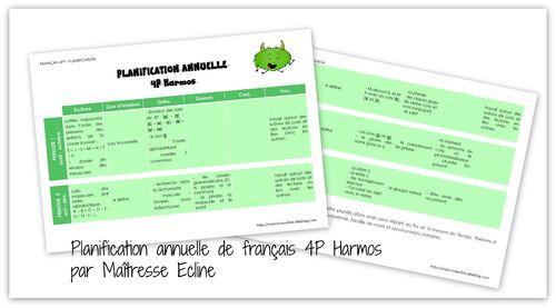 Planification annuelle de français pour les 4e Harmos