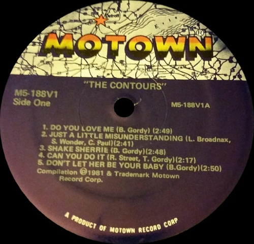 "The Contours : Album ‎"" Do You Love Me (Now That I Can Dance) "" Motown Records M5-188V1 [ US ]"
