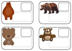 Etiquettes - prénoms pour oursons