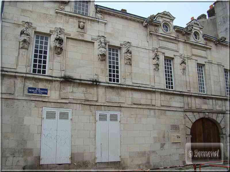 La Rochelle Maison Nicolas Venette médecin du XVIIème siècle
