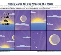 God Made the World Match Game