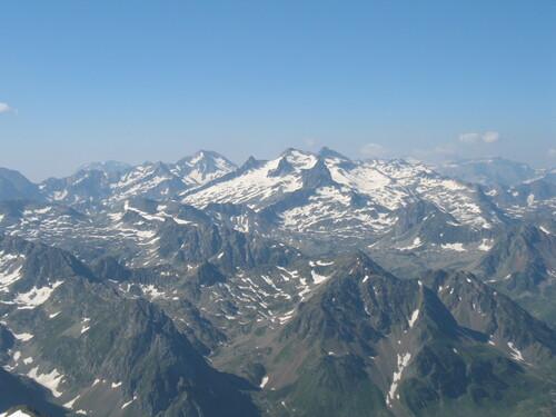 Les Pyrénées vus du Pic du Midi