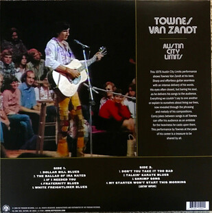Un grand folkeux: Townes van Zandt - Live at Austin City Limits (1976) (RSD 2017)