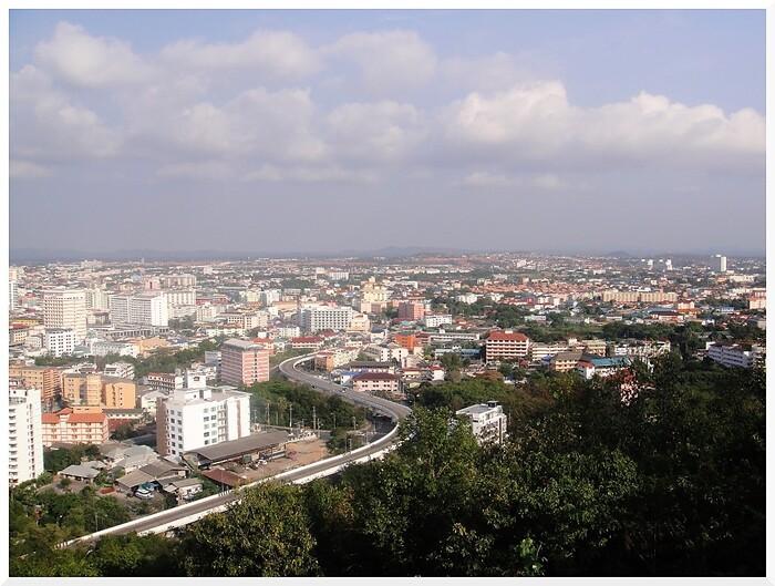 Photos de Thaïlande.  Vue de Pattaya depuis la Colline